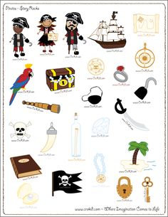 Pirates - drawing - writing - stories - story rocks - kindergarten - first grade…