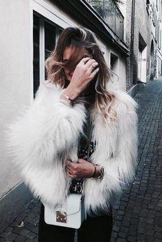faux fur jacket.