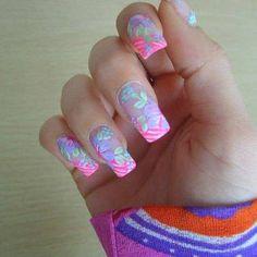 35 The Coolest Nail Great Nails, Fabulous Nails, Cool Nail Art, Hair And Nails, My Nails, Bella Nails, Nail Art Designs, Nailart, Solar Nails