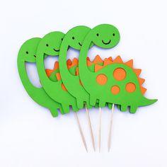 Dinosaurio Cupcake Toppers / fiesta de dinosaurios /