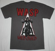 W.A.S.P. WILD CHILD'85 HEAVY METAL BAND WASP TWISTED SISTER NEW GREY T-SHIRT