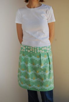 Olive Martini Amy Butler Apron by stitch248 on Etsy, $24.00