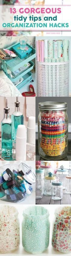 13 Gorgeous Tidy Tips and Organization Hacks that I can't believe I didn't think of but fit my style perfectly! http://www.smartschoolhouse.com/diy-crafts/tidy-tips-organization-hacks?utm_content=bufferb7954&utm_medium=social&utm_source=pinterest.com&utm_campaign=buffer#_a5y_p=3901331