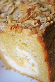 Cream Cheese Coffee Cake with Lemon Sugar Almond Topping
