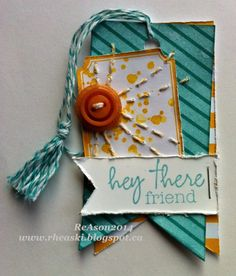 Love the stitching on this adorable tag!