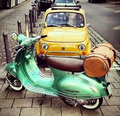This is not a Vespa, it's a Milano (in the US) a 150cc automatic using a standard Chinese GY6 engine in a frame that copies an early wide body Vespa. I find this interesting.