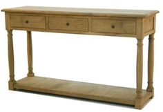 Weathered Oak Console Table
