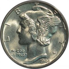 Eagle Eye Rare Coins has this item on Collectors Corner - 1944 10C MS66FB PCGS