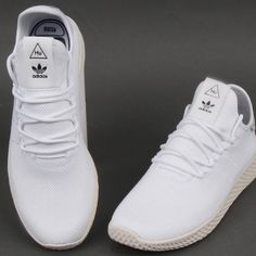59de13b474ff The stunning adidas PW Tennis HU Trainers in white on special offer was £79  NOW