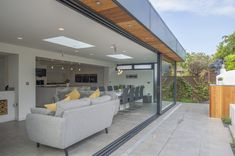 The XP Infinite is our newest sliding door, with a clear opening, high thermal insulation, and a stunning modern design. Open Plan Kitchen Dining Living, Open Plan Kitchen Diner, Open Plan Living, House Extension Plans, House Extension Design, House Design, Extension Ideas, Express Bi Folding Doors, Bi Fold Doors