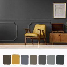 Room Colors, House Colors, Decor Interior Design, Interior Decorating, Cabin Interiors, New Home Designs, Living Room Inspiration, Grey Walls, Home Living Room