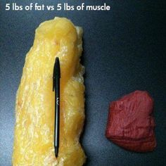 This is what 5 pounds of fat vs 5 pounds of muscle looks like and couldn't really find a better, grosser picture, for Motivational Monday to keep fit! How much motivation do you need to not want your body to be made up of the left side?