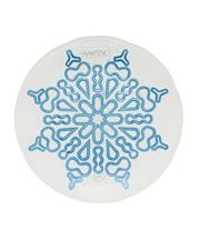Large  White Star Glass Plate