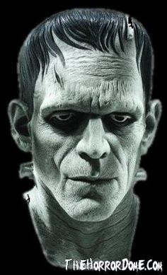 The deluxe frankenstein monster mask is a great latex costume accessory for our scary halloween costumes. Add this classic, scary mask to a frankenstein costume. Costume Frankenstein, Bride Of Frankenstein, Victor Frankenstein, Arte Horror, Horror Art, Horror Movies, Scary Movies, Real Horror, Fantasy Creatures