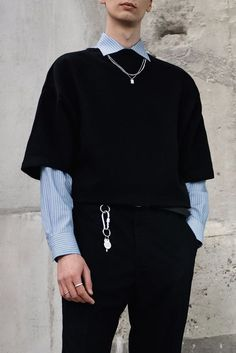 (menswear casual fashion inspired inspiration outfit look men mens spring summer style outfits clothing ideas inspo details accessories) We create not only small series fashionable accessories for everyday. Edgy Outfits, Summer Fashion Outfits, Korean Outfits, Grunge Outfits, Cool Outfits, Fresh Outfits, Layering Outfits, Aesthetic Fashion, Aesthetic Clothes