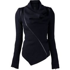 Rotita Black Long Sleeve Zipper Closure Jacket