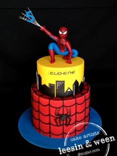3d spiderman cakes - Google Search