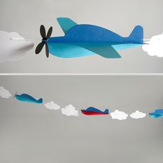 Airplane Garland Kit by EspeciallyPaper on Etsy…