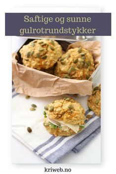 Gulrotrundstykker i en fei Healthy Eating, Healthy Food, Bacon, Food And Drink, Low Carb, Gluten, Favorite Recipes, Lunch, Healthy Recipes