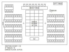 5d7f5b2799aaa815fb25609a42894805  wedding reception layout wedding seating - How to Set Up Your Space and Get the Most out of Your Venue Layout