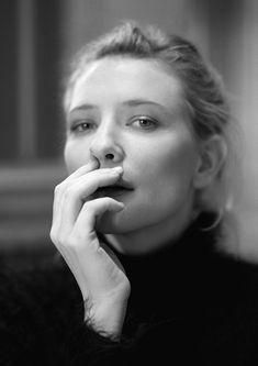 "une-femme-en-noir: ""au-dela-du—noir: ""Cate Blanchett by Firooz Zahedi "" """