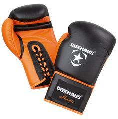 Abnotic Boxing Gloves laced 8 - 18 ozBoxhandschuhe zum Schnüren für Wettkampf und Training mit starker Dämpfung aus echtem Leder