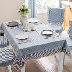 Brief thickening a western fabric dining table cloth rectangle striped tablecloth - Projetos para experimentar