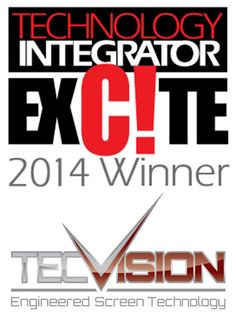 Draper TecVision viewing surfaces win 2014 Excite Award!