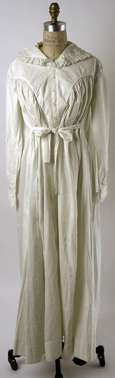Linen nightgown ca. 1821 - in the Metropolitan Museum of Art costume collections.