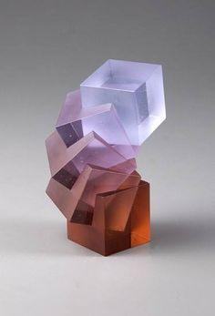 Heike Brachlow.Theme and Variations XXXII, Polychromatic Cast Glass.