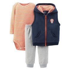 Just One You™Made by Carter's® Newborn Boys' Lion 3 Piece Set - Navy/Orange $7.98