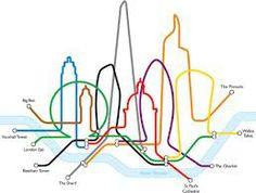 Is the skyscraper craze ruining the London Skyline? New take on classic tube map 2012 London Tube Map, London Map, Tower Of London, London Landmarks, London Poster, London Calling, London England, England Uk, Map Design