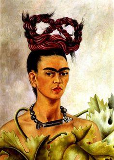 Self-portrait with the Plait Frida Kahlo, 1907..1954 .