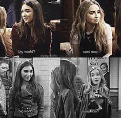 "#GirlMeetsWorld ""Girl Meets Goodbye""/ ""Girl Meets World"" (the last scene of season 3 and the last scene of season 1)"