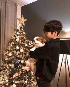 Kristian Kostov and Karmelek 🔺❤️ Kristian Kostov, My Love, Holiday Decor, Celebrities, Fall, Boys, Cute, Garden, Artists