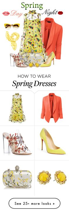 """""""Spring Day to Night"""" by kkadri on Polyvore featuring LE3NO, Erdem, Alexander McQueen, Paul Andrew, Kate Spade, Dolce&Gabbana, Winky Lux, Fiebiger, Christian Louboutin and daytoevening"""