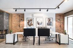 The style and design is functional, laconic, however very welcoming and cozy - Office for 3