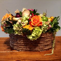 Be sure to get your orders in for Thanksgiving! Amy and Joan will be designing beautiful arrangements (such as the one shown below). Call us or drop in as soon as possible so your design will be ready in time for Turkey Day!  amaranthusonmain.com