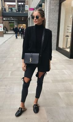all black outfit casual - Outfits ta Mode Outfits, Trendy Outfits, Fall Outfits, Fashion Outfits, Fashion Fashion, Paris Outfits, Fashion 2020, Fashion Online, High Fashion