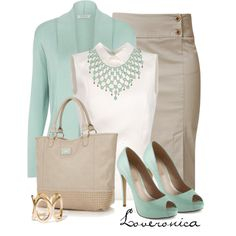A fashion look from May 2013 featuring Windsmoor cardigans, Rochas blouses y Raxevsky skirts. Browse and shop related looks. Mode Outfits, Fashion Outfits, Womens Fashion, Petite Fashion, Curvy Fashion, Fashion Tips, Fashion Trends, Office Fashion, Work Fashion
