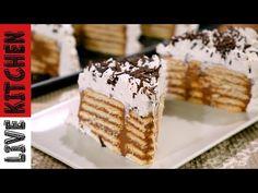 Κορμός ψυγείου (ΧΩΡΊΣ ΧΡΗΣΗ ΦΟΡΜΑΣ) Σε 15' λεπτά!!Επαγγελματικό Αποτέλεσμα!Biscuit Chocolate Dessert - YouTube Krispie Treats, Rice Krispies, Kitchen Living, Tiramisu, Bakery, Goodies, Sweets, Ethnic Recipes, Desserts