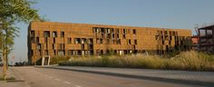 Built by Foreign Office Architects in Madrid, Spain with date 2007. Images by Francisco Andeyro Garcia. The site is a 100x45 parallelogram oriented north-south and limiting on the west with a new urban park and on the nor...