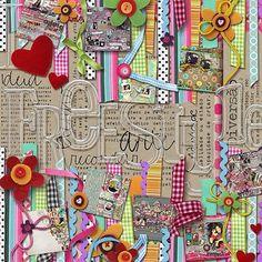 [ Freestyle ] - My Scrapbook Art Gallery Scrapbook Page Layouts, Scrapbook Paper Crafts, Scrapbook Cards, Scrapbook Photos, Album Diy, Diy Wall Art, Altered Art, Altered Books, Creations