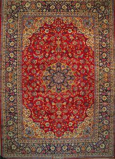 "Buy Esfahan Persian Rug 13' 1"" x 19' 0"", Authentic Esfahan Handmade Rug"