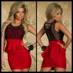 Paisley Lace Peplum Dress in red  Item No : DP1429-3  Price : $47.99  Sizes M & L only available.   To purchase today, please email us & include the following:  1) Full name  2) Email address  3) Mailing address  4) Phone number  5) Item number(s) OR picture(s) AND size(s) of the item(s) you wish to order  6) Form of payment (etransfer or PayPal accepted. www.paypal.com)  Email to: dieprettyclothing@gmail.com  ~ Die Pretty Clothing Co. www.dieprettyclothingco.com