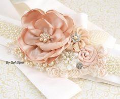 Boda marco, Blush, crema, marfil, elegante, Vintage bodas, boda de Gatsby, marco nupcial, con piedras preciosas, cristales, marco de perlas, encajes, cristales