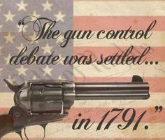 The funny thing is...the people demanding that we turn in our guns have no idea what happened in 1791.