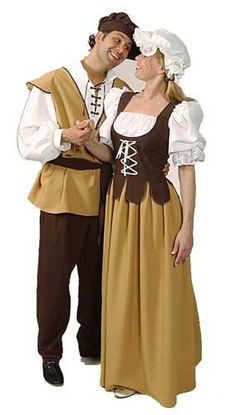 Boy and girl peasant