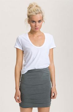 James Perse Scoop Neck Cotton Tee available at Nordstrom #wardrobe #essential