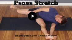 Psoas Stretch - No Painful Lunge Required! Active Isolated Stretching